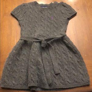 Toddler Girls Cable Knit Ralph Lauren Dress - 4t